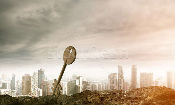 Görüntü beton anahtar imzalamak doğal lan Stok fotoğraf © adam121