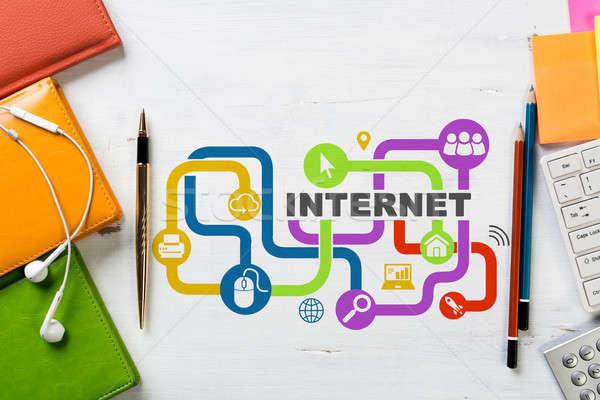 Social conexión redes negocios lugar de trabajo Foto stock © adam121