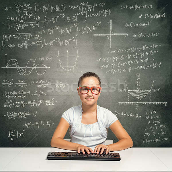 Stock photo: Little school genius
