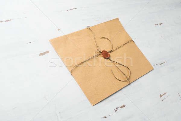 Carta sello mesa edad dotación cera Foto stock © adam121