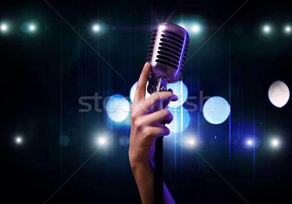 Popular singer Stock photo © adam121