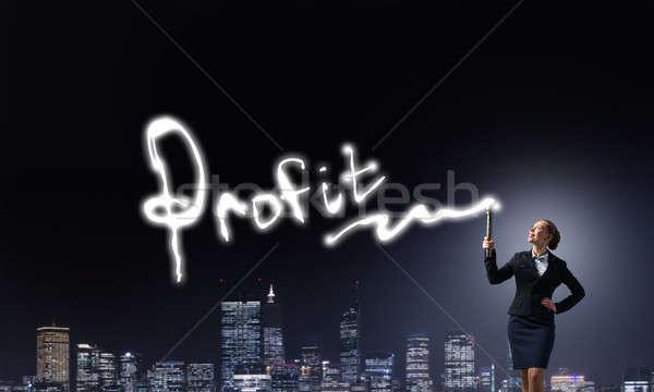 女性 懐中電灯 手 小さな エレガントな 女性実業家 ストックフォト © adam121