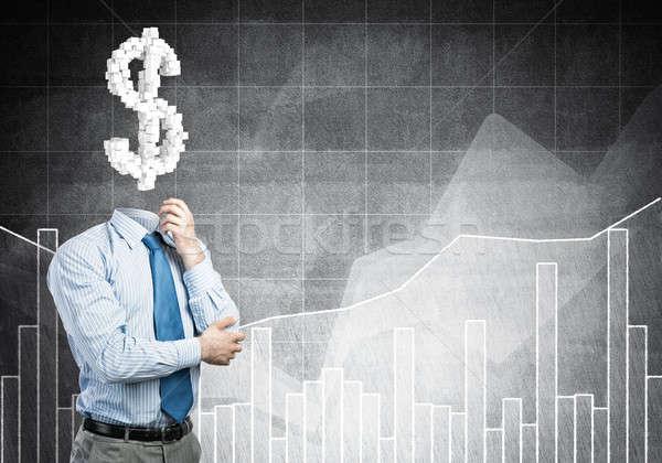 Sempre pensando dinheiro empresário cifrão financiar Foto stock © adam121