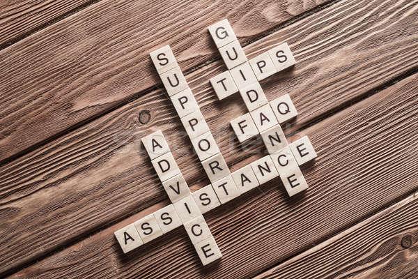 Mídia tabela elementos jogo palavras cruzadas Foto stock © adam121