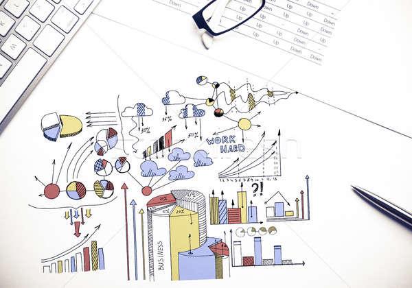 計画 有益 ビジネス 色 ビジネス戦略 スケッチ ストックフォト © adam121