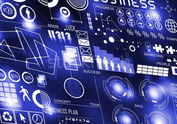 革新的な 技術 デジタル ビジネス 画像 アイコン ストックフォト © adam121