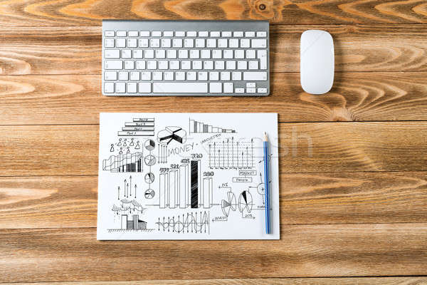 ビジネス 職場 先頭 表示 帳 アイデア ストックフォト © adam121