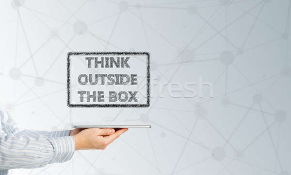 Thinking outside the box concept Stock photo © adam121
