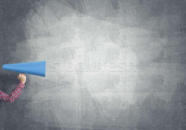 手 女性 紙 トランペット 具体的な ストックフォト © adam121