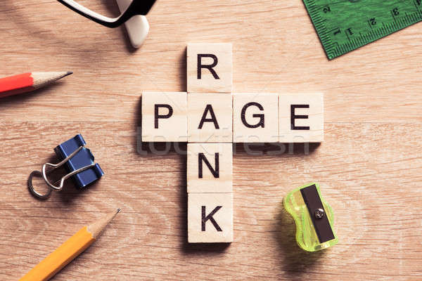 Conceptual media keywords on table with elements of game making  Stock photo © adam121