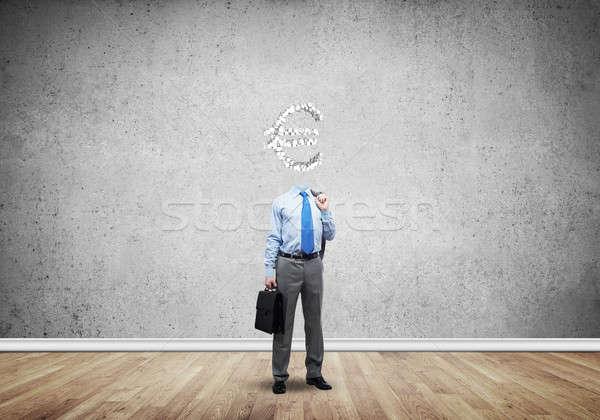 Sempre pensando dinheiro empresário euro assinar Foto stock © adam121