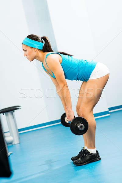 Mulher jovem ginásio viver vida saudável corpo Foto stock © adam121