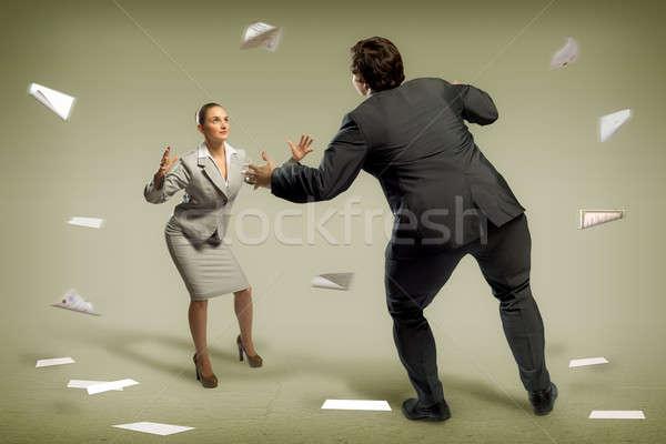 two businessmen fighting as sumoist Stock photo © adam121