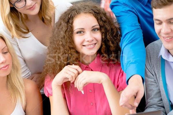Grup genç Öğrenciler yakın portre genç kadın Stok fotoğraf © adam121