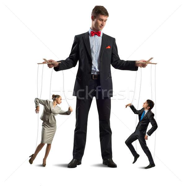 Marionnette affaires gens d'affaires contrôle homme travaux Photo stock © adam121