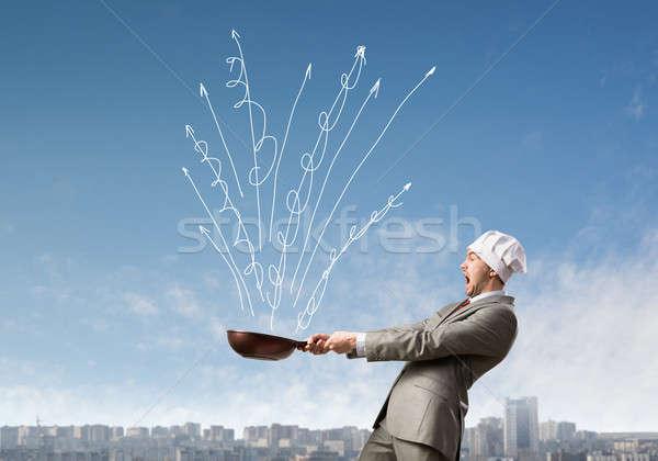 Fierbinte afaceri frumos om de afaceri găti Imagine de stoc © adam121
