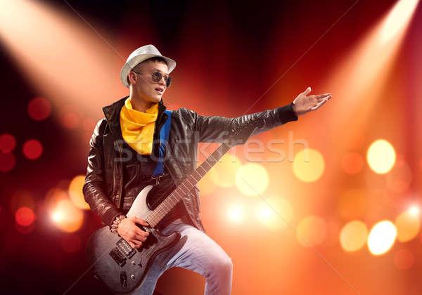 Rock star on stage Stock photo © adam121