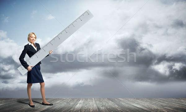 女性 定規 小さな 女性実業家 ストックフォト © adam121