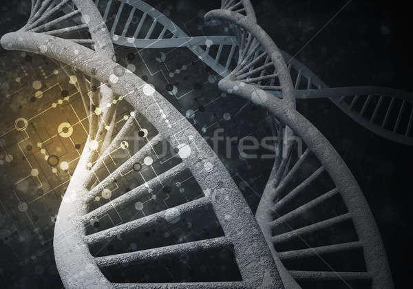ADN moléculas 3D imagen investigación Foto stock © adam121
