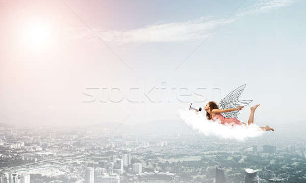 Libre expreso megáfono vuelo alto Foto stock © adam121