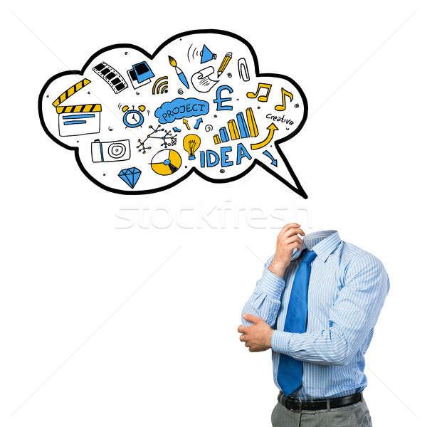 Affaires idées tête affaires salle vide bulle Photo stock © adam121