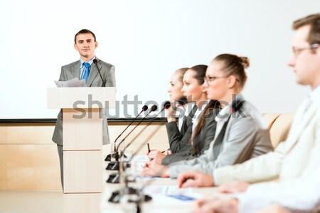 male speaker Stock photo © adam121