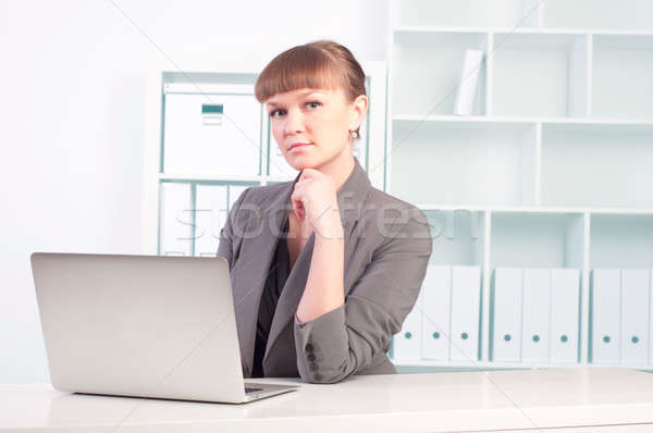 Stock photo: woman works in the office