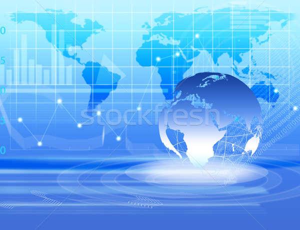 抽象的な ビジネス デジタル 画像 世界中 インターネット ストックフォト © adam121