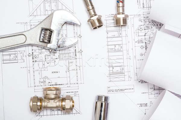 Encanamento desenhos construção natureza morta área de trabalho Foto stock © adam121