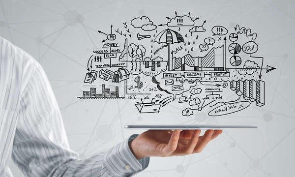 Terv elektronikus üzlet üzletember kéz üzleti stratégia Stock fotó © adam121
