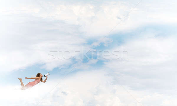 She is free to express herself Stock photo © adam121
