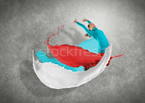 female dancer with splashes of paint Stock photo © adam121
