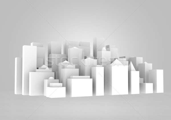 Urbano construção imagem esboço projeto edifício Foto stock © adam121