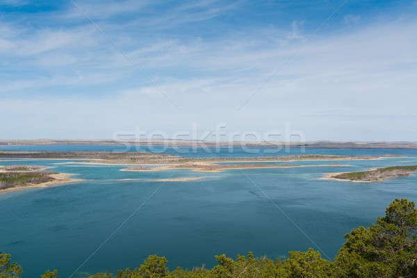 Kasachstan malerische natürlichen Landschaft blau Baum Stock foto © adam121