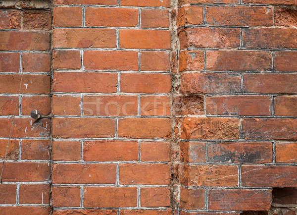 磚牆 質地 老 部分 銷毀 施工 商業照片 © adam121