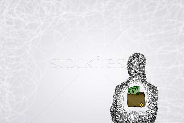 деньги способность силуэта Сток-фото © adam121
