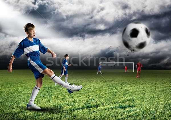 Young football champion Stock photo © adam121