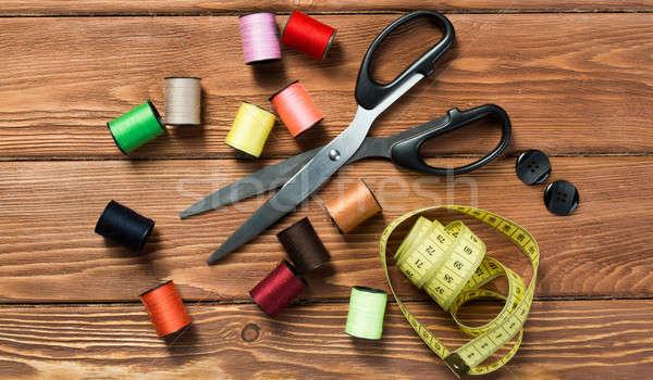 Varr csináld magad fényes kép készlet kellékek Stock fotó © adam121