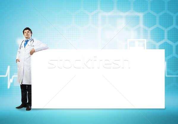 Medico banner giovani bello bianco luogo Foto d'archivio © adam121