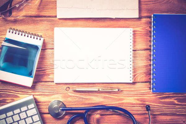 Workplace of health worker Stock photo © adam121
