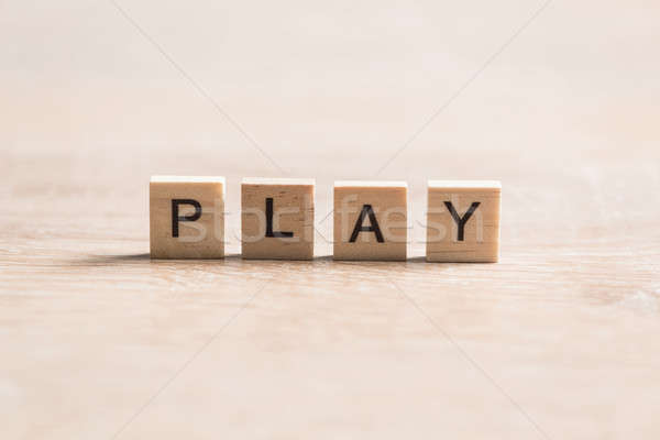 wooden elements with letter collected to word play Stock photo © adam121