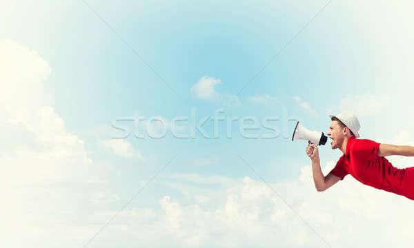 парень объявление молодым человеком мегафон Сток-фото © adam121