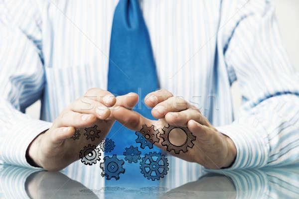 Trabajo en equipo cooperación empresario sesión mesa Foto stock © adam121