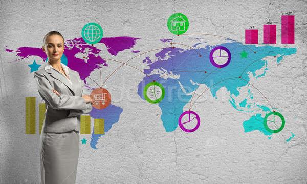 Interface apresentação empresária cor aplicação ícones Foto stock © adam121