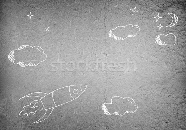 Flying rocket Stock photo © adam121