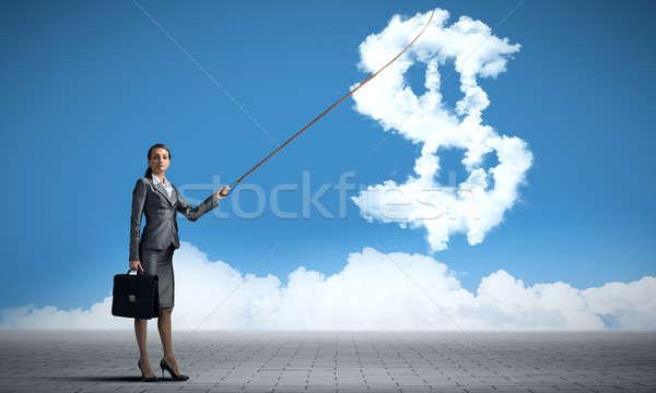 доллара валюта привлекательный деловая женщина Сток-фото © adam121