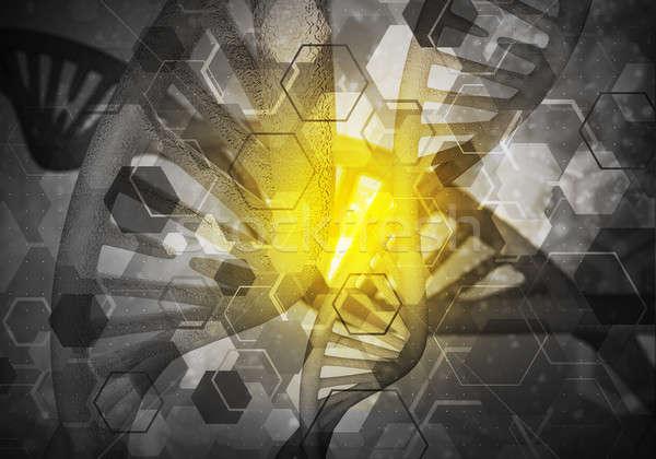 ADN moléculas fondo imagen investigación 3D Foto stock © adam121