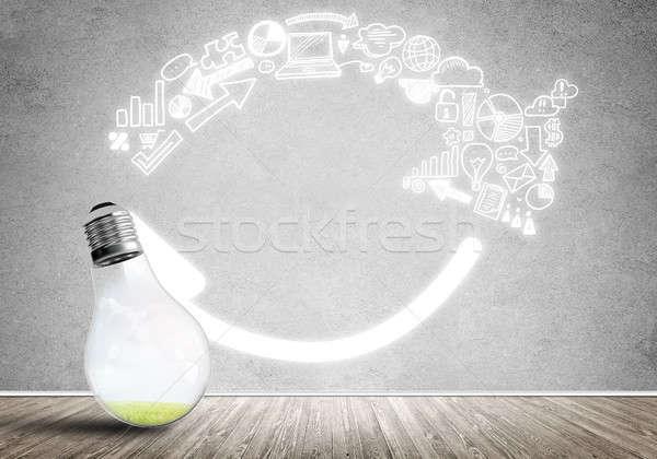 Eficaz comercialización ideas vidrio bombilla Foto stock © adam121