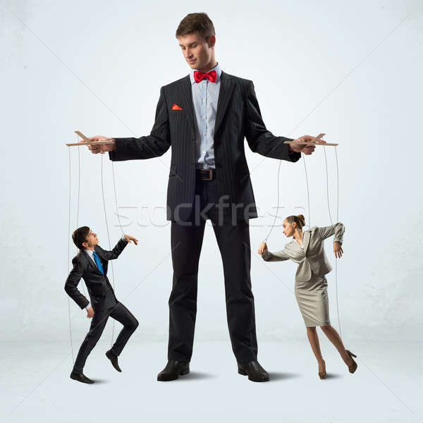 puppeteer and puppet business Stock photo © adam121