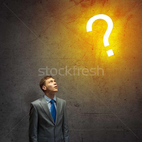 Thoughtful businessman Stock photo © adam121